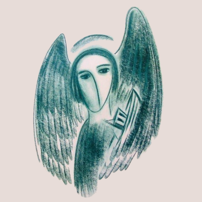 Winged Figure with Boat © Estate of Lorna Graves