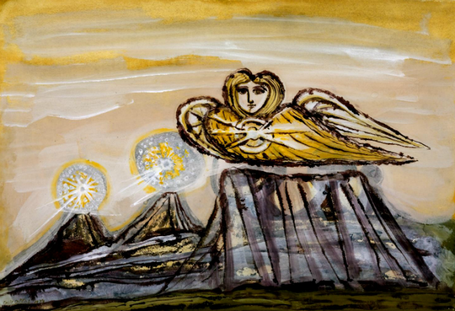 The Divine Land (1975) by Cecil Collins © Tate