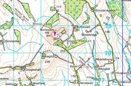 Burnswark Hill © Ordnance Survey