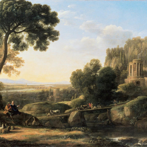 'Pastoral Landscape' by Claude Lorrain   1644 Oil on Canvas © Musée de Grenoble