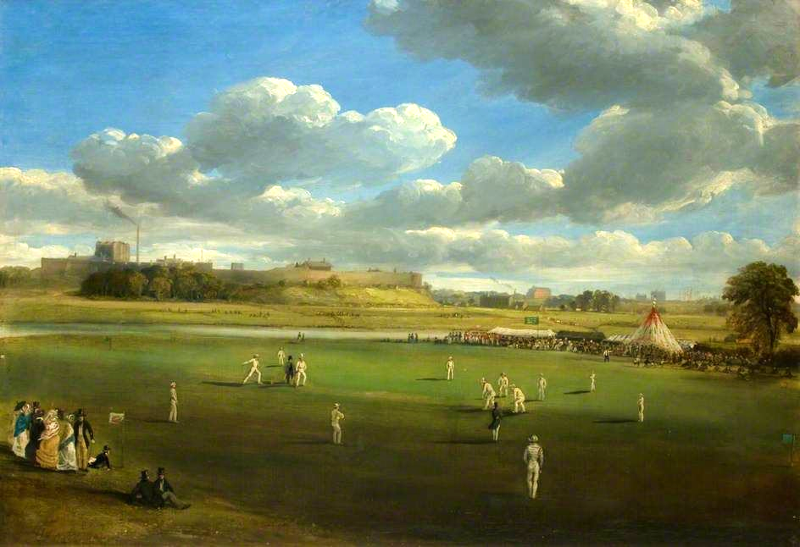 'Cricket Match at Edenside' by Samuel Bough © Tullie House Museum